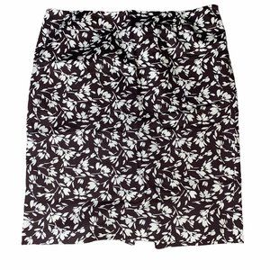 Lauren Ralph Lauren Brown Floral Pencil Skirt 16